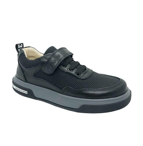 Полуботинки для мальчика, цвет черный, липучка/шнурки - фото 10830