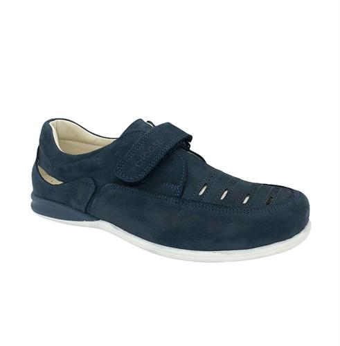 Школьные туфли для мальчика, цвет: синий, на липучке - фото 10856