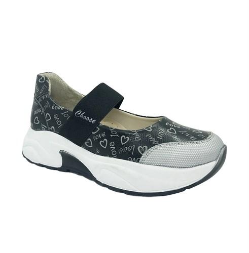 Туфли для девочки, цвет серый, на резинке - фото 11234