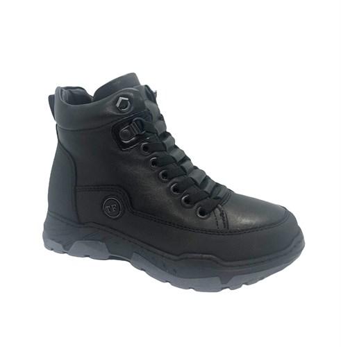 Ботинки для мальчика, цвет черный, молния/шнурки - фото 11882