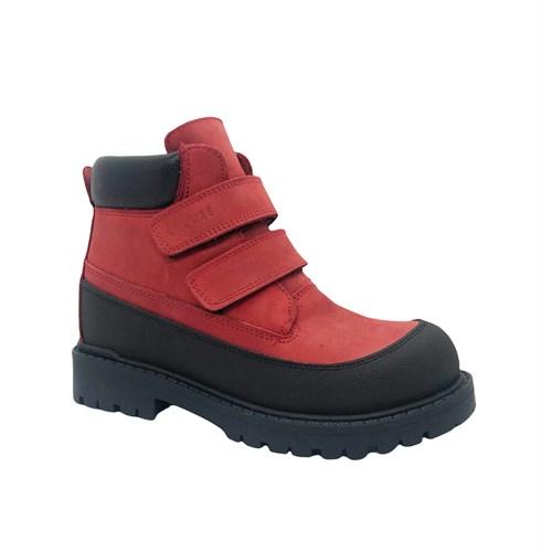 Ботинки для мальчика, цвет красный, на липучках - фото 11968