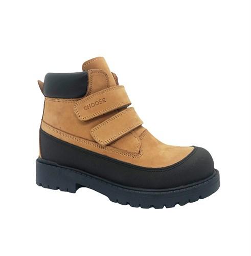 Ботинки для мальчика, цвет песочный, на липучках - фото 11978