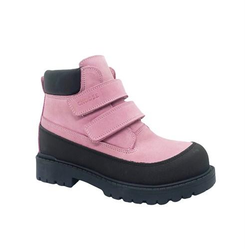 Ботинки для девочки, цвет розовый, на липучках - фото 11998