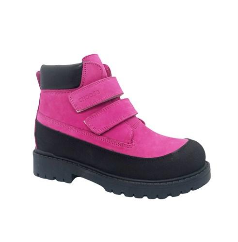 Ботинки для девочки, цвет фуксия, на липучках - фото 12008