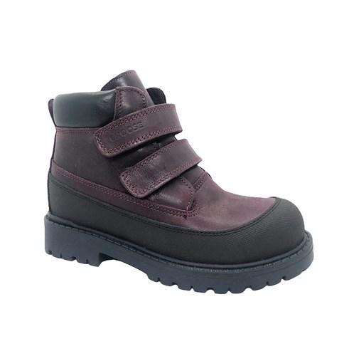 Ботинки для девочки, цвет бордовый, на липучках - фото 12018
