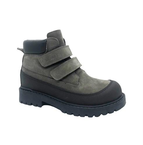 Ботинки для мальчика, цвет серый, на липучках - фото 12028