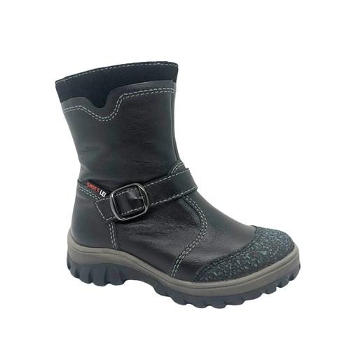 Ботинки для мальчика, цвет черный, на молнии - фото 12042
