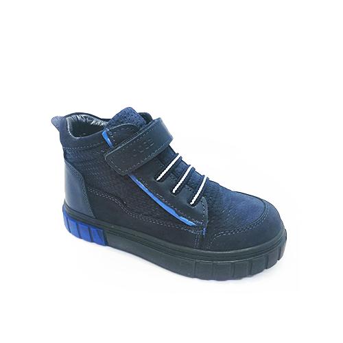 Ботинки демисезонные для мальчиков, цвет синий, шнурки/липучка - фото 4696