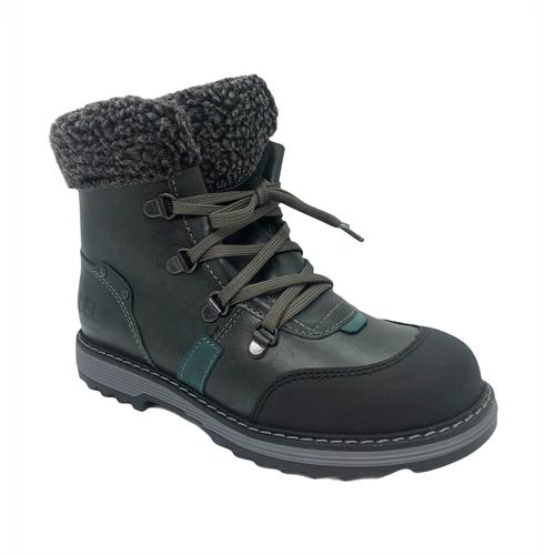 Ботинки для мальчика, цвет серый, на шнурках - фото 4950