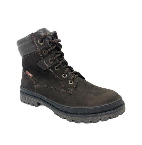 Ботинки для мальчика, цвет коричневый нубук, шнурки - фото 5239