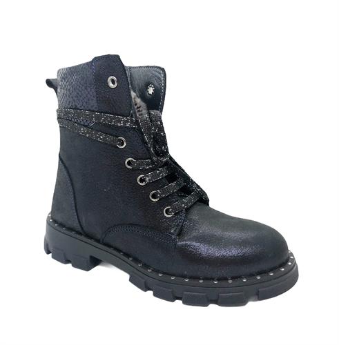 Ботинки для девочки, цвет синий, лазерная обработка кожи - фото 5275