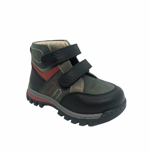 Ботинки для мальчика, цвет серый, на липучках - фото 5775
