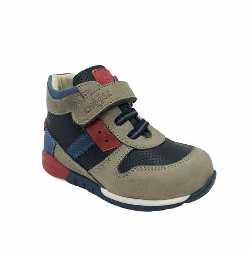 Ботинки для мальчика, цвет серый, шнурки/липучка - фото 5780