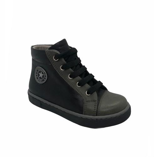 Ботинки-кеды демисезонные для мальчика, цвет черный, молния/шнурки - фото 5818
