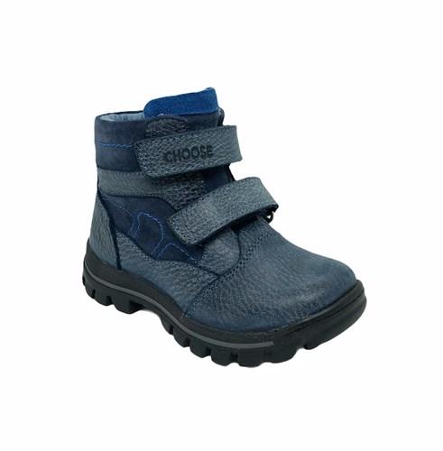 Ботинки для мальчика, цвет  синий, на липучках - фото 6654