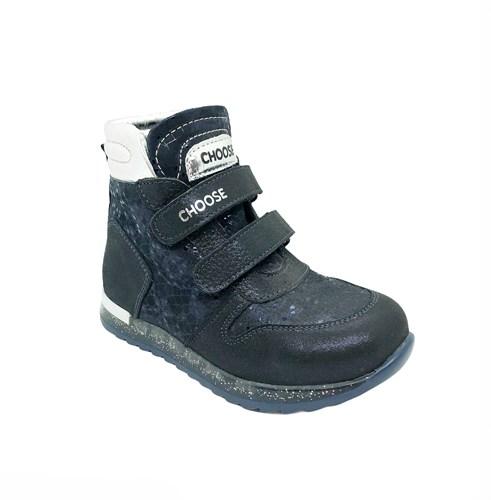 Ботинки демисезонные для девочки, цвет синий, на липучках - фото 6705