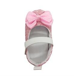 Пинетки-туфельки для девочки, розовые с бантом