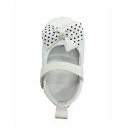 Пинетки-туфельки для девочки, белого цвета с бантом