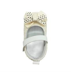 Пинетки-туфельки для девочки, бежевого цвета с бантом