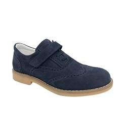 Школьные туфли для мальчика, цвет синий, липучка/шнурки