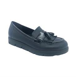Туфли для девочки (лоферы), цвет синий