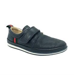 Туфли мужские, цвет синий, регулируемая липучка