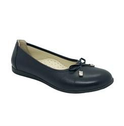 Туфли для девочки, цвет темно-синий, бантик