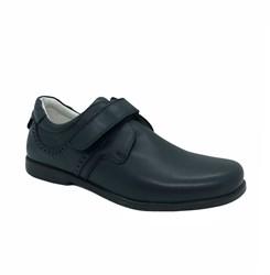 Школьные туфли для мальчика, цвет синий, на липучке