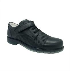 Полуботинки для мальчика, цвет темно-синий, шнурки/липучка