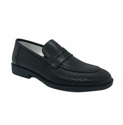 Туфли для мальчика, цвет черный, перфорация