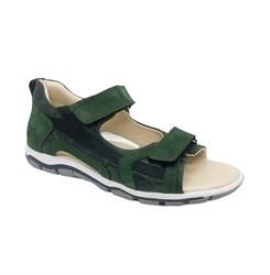 Сандалии для мальчика, цвет зеленый (камуфляж), на липучках