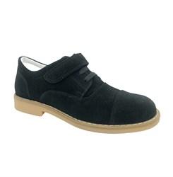 Школьные туфли для мальчика, цвет черный, нубук