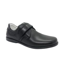Туфли для мальчика, цвет черный, на липучке