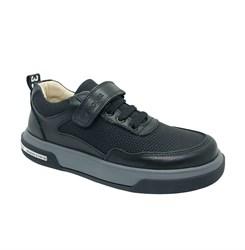 Полуботинки для мальчика, цвет черный, липучка/шнурки
