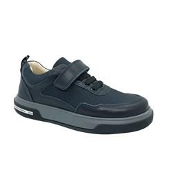 Полуботинки для мальчика, цвет темно-синий, липучка/шнурки