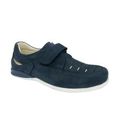 Школьные туфли для мальчика, цвет: синий, на липучке