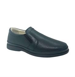 Туфли школьные для мальчика, цвет синий, резинка