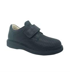 Туфли школьные, цвет синий, перфорация, подошва ТЭП