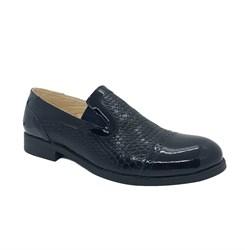 Туфли для подростков, цвет темно-синий, резинки
