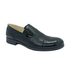 Туфли для подростков, цвет черный, резинки, классика