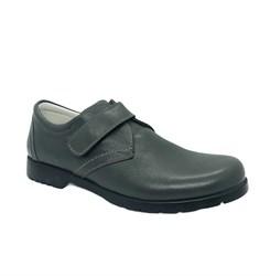 Туфли для подростков, цвет серый, на липучке
