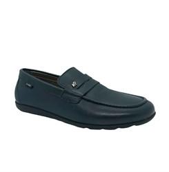 Туфли для мальчика, цвет синий, классика