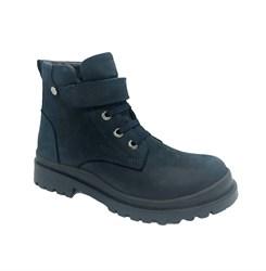 Ботинки для мальчика, цвет синий, нубук, липучка/шнурки