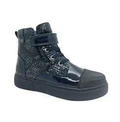 Ботинки для девочки, цвет синий, на липучке/шнурки