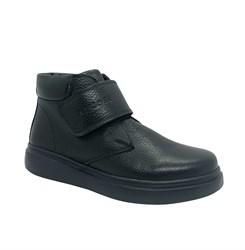 Ботинки для мальчика, цвет черный, на липучке