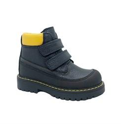 Ботинки для мальчика, цвет черный/желтый, на липучках