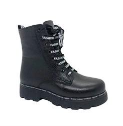 Ботинки для девочки, цвет черный, молния/шнурки