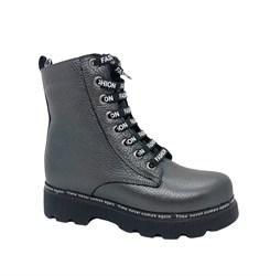 Ботинки для девочки, цвет серый, молния/шнурки