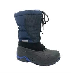 Сноубутсы для мальчика, цвет синий, молния/шнуровка