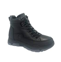 Ботинки для мальчика, цвет черный, молния/шнурки
